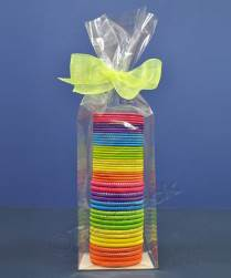 Cellophane Bags With Side Gussets And Silver Card Base