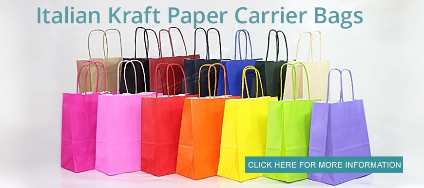 Coloured Kraft Paper Carrier Bags