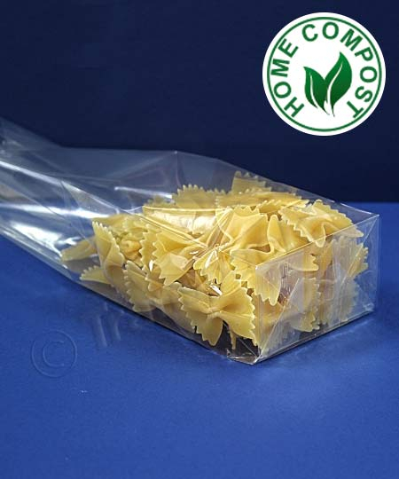 Compostable Block Bottom SOS Bags with Side Gussets