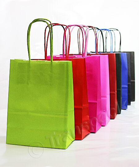 Coloured Kraft Paper Carrier Bags