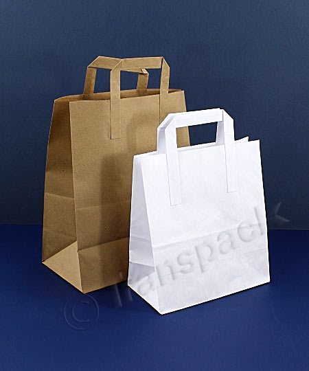 Economy Paper Carrier Bags with Flat Handles