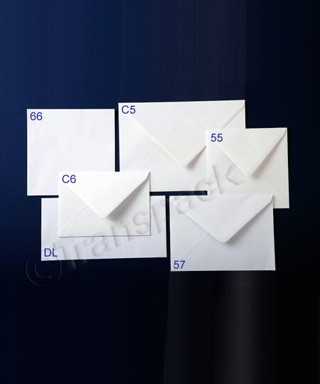 White Greetings Card Envelopes