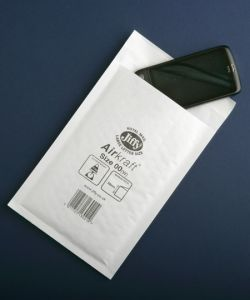Jiffy Airkraft Bags White Mailers (A6) Size 00 115 x 195mm
