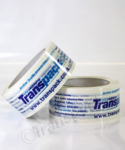 Printed Packing Tape White Vinyl Tape Printed 1 Colour 50mm x 66m