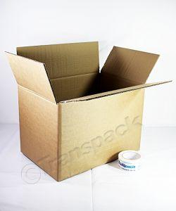 Brown Single Wall Cardboard Carton 381 x 305 x 305mm