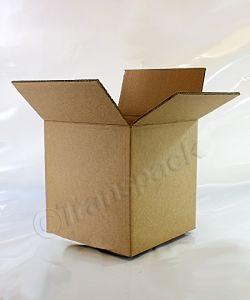 Brown Single Wall Cardboard Carton 229 x 229 x 229mm