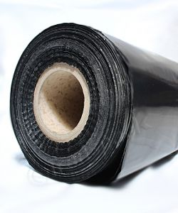 Centre  Folded  Polythene  sheeting       6 ft wide Builders Roll 183m 250g Black 3ft /6ft