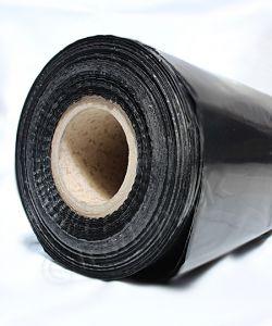 Centre  Folded  Polythene  sheeting       6 ft wide Builders Roll 91m 500g Black 3ft /6ft