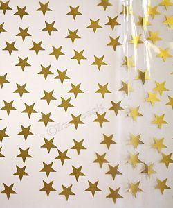 Cellophane Wrap Gold Star Design