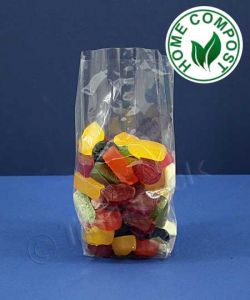 Compostable Bags with Side Gussets 76x125x200mm - NatureFlex ™
