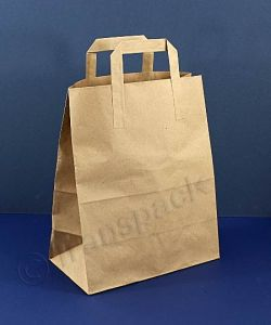 Recycled Kraft Paper Carrier Bag Brown - Large