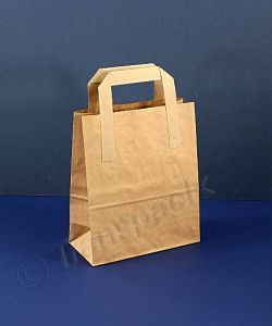 Recycled Kraft Paper Carrier Bag Brown - Small