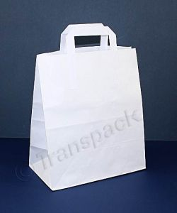 Recycled Kraft Paper Carrier Bag White - Large