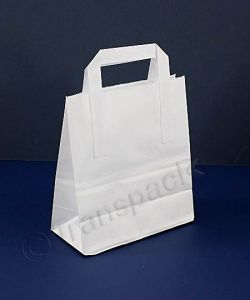 Recycled Kraft Paper Carrier Bag White - Medium