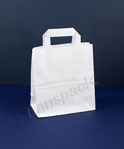 Recycled Kraft Paper Carrier Bag White - Small