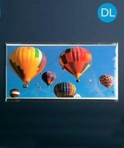 Crystal Clear Greetings Cards Envelopes 113 x 220mm + flap for DL envelopes