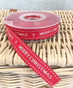 Merry Christmas Ribbon Red