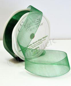 Organza Ribbon Green 25mm x 20m