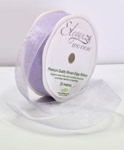 Organza Ribbon Lavender  25mm x 20m