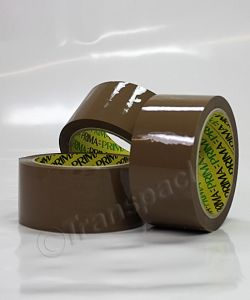 Packaging Tapes Deluxe Vinyl Tape, Brown 50mm x 66 metre