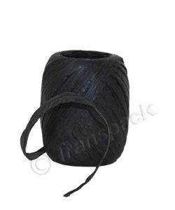 Paper Raffia Ribbon 8mm x30m Black