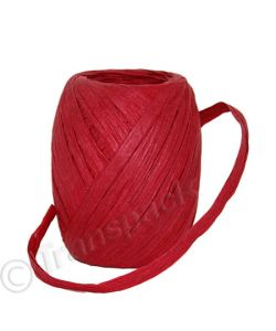 Paper Raffia Ribbon 8mm x30m Red