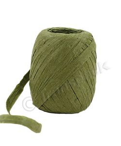 Paper Raffia Ribbon 8mm x 30m Sage Green