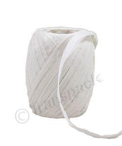 Paper Raffia Ribbon 8mm x 30m White