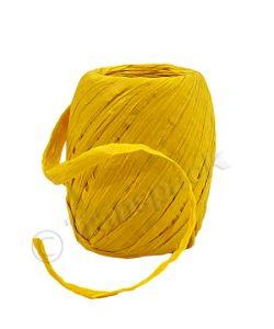 Paper Raffia Ribbon 8mm x 30m Yellow