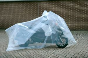 Clear Centre folded polythene sheeting 6ft/12ft wide 500g