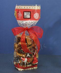 gold card base bag Santa Snow - Small 100x220mm