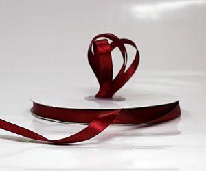 Satin Ribbon Burgundy 10mm x 50m
