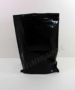 Resealable Coloured Bags Seal-Again Coloured Bags 8 x 11 Black