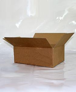 Brown Single Wall Cardboard Carton P10 254 x 178 x 152mm