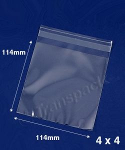 Small Clear cellophane gift bags 114 x 114