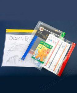 Zip Wallets (Supazips) zipped-wallet (405x255mm) Min qty. 25 16 x 10 ins