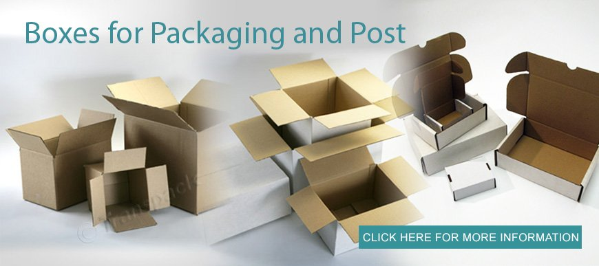 Boxes for packaging and post